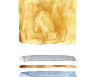 Amber Color Study Print