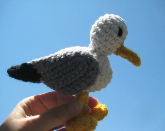 Amigurumi seagull crochet pattern, Crochet pattern amigurumi bird, Crochet seagull