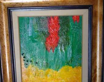 Red yellow green landscape