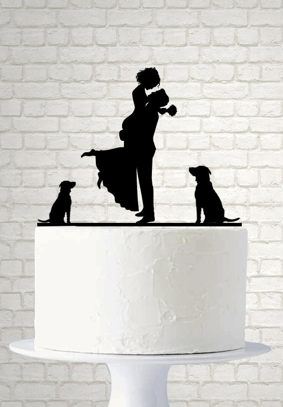 personalized wedding silhouette cake topper pet by laserdesigns1