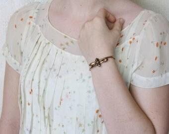 Victorian Rose Gold Etruscan Revival Bracelet - SIGNED