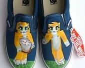 StampyLongNose Minecraft custom hand painted Stampy Shoes