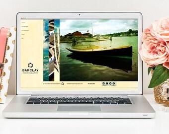 Website Template, Photography Website, Portfolio Website, Modern Website Template, Simple Website Template