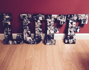 Wooden Letter Photo Collage (4 letter listing)