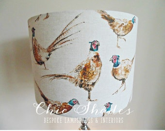 Country Pheasants Fabric Lampshade