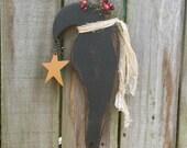 Primitive Crow with Star - Solid Wood - Handmade - Wall Hanging - OFG, FAAP, HAFAIR, TeamHaHa