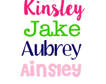 Name Decal, Name Stickers, Personalized Decal Stickers, Kids name labels, Vinyl Name stickers,  water bottle decal, yeti name sticker,