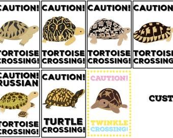 Metal Sign - Caution! Tortoise/Turtle Crossing!