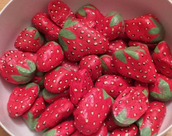 Strawberry Decoy Rocks (5 in set)