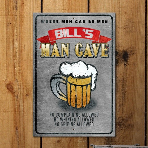 Personalised Metal Man Cave Signs : Personalized man cave metal sign aluminum by