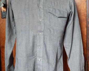 Grey men's work shirt