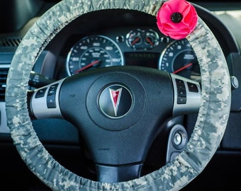 Army ACU Digital Camo Army Wife Steering Wheel Cover Car Decor Cute Car Accessories