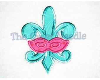 Fleur De Lis Mask Iron On or Sew On Applique * Mardi Gras Mask Iron On or Sew On Applique Patch * Multiple sizes