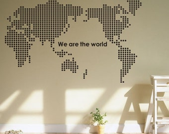 PVC Wall Stickers Home Decoration World Map Vinyl Decals Mural