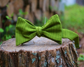 Men self-tie bow tie/freestyle bowtie/stripes/green/fixed/clip/option/necktie/bow tie/classic bowtie/Butterfly/ Bow Tie/man bow tie/ tie it/