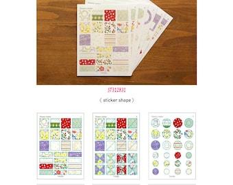 Washi Sticker 6pc Set Flowery ST312831
