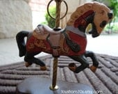 Vintage Carousel horse figurine, Libertyland carousel model great gift for carousel collectors!