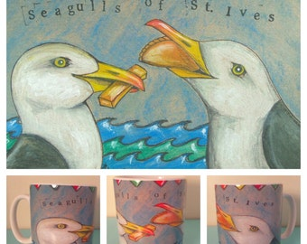 Seagulls of St. Ives mug
