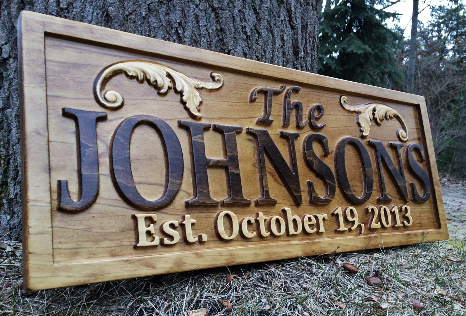Personalized Lake House Sign Wood Plaque Custom Carved 3d Last