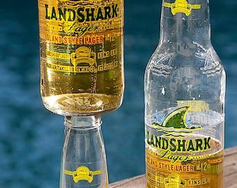 Landshark Beer Bottle Wine Glass
