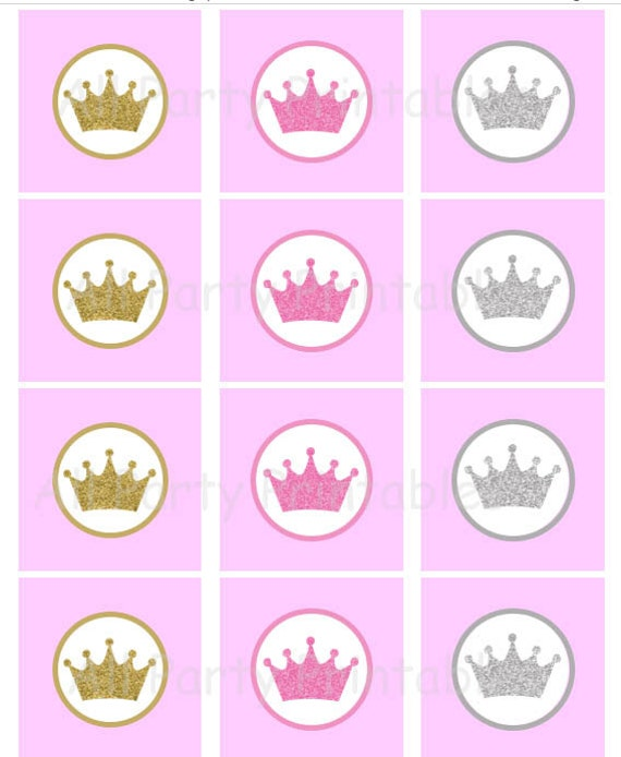 princess crown template for cupcakes