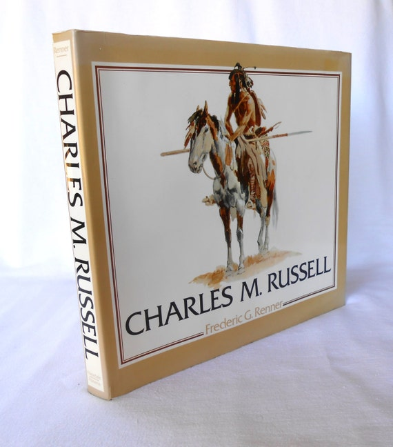 Charles M Russell Western Art Large Coffee Table Book Vintage