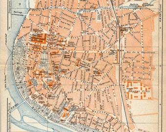 1926 Vichy France Antique Map