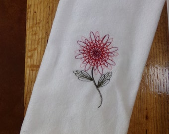 Loopy Flower Hand Towel