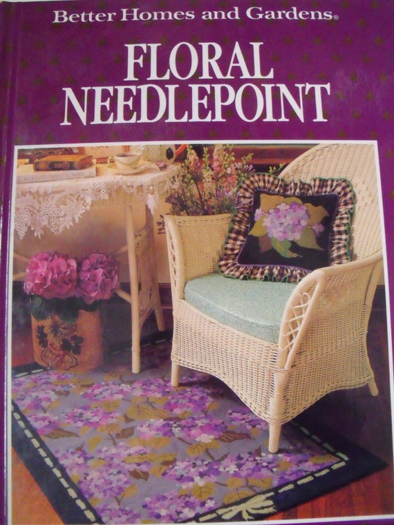 HB book, Floral needlepoint by Better Homes and Gardens,  project book, craft book,  tutorial workbook, very good condition