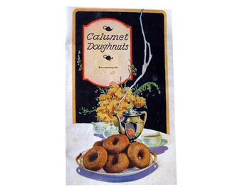 Recipe Booklet Reliable Recipes Vintage Baking Booklet by Calumet Baking Powder / Advertising Pamphlet