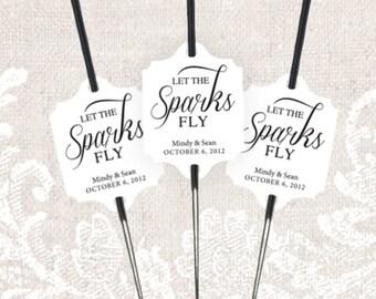 Let the Sparks Fly, Sparkler Send Off Wedding Tags, Custom, Personalized, Sparkler Tags, Sparkler Send Off, Wedding, Tags, Rustic, Classic
