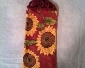 Sunflowers Knob Style Kitchen Hanging Towel