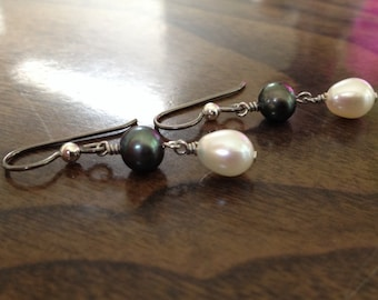 Hypoallergenic niobium gorgeous Pearl earrings