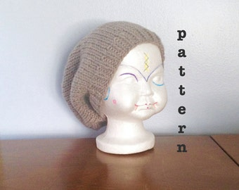PATTERN Knit Kids Slouchy Beanie - Knitting Patterns - Kids Beanie Pattern - Knit Slouchy Beanie Pattern - Easy Beanie - Toddler Slouch Hat