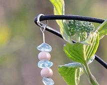 Blue Apatite necklace, earthy organic jewelry, blue gemstone pendant, organic earthy necklace natural gemstone jewel pagan vegan tribal ayin