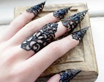 Ebony Armour Full Hand Set Midi Claw Rings Adjustable. Twig Wedding Rings. Elegant Gold Engagement Rings. 50th Wedding Anniversary Engagement Rings. Plywood Rings. Gold Jewellery Rings. Electroplated Rings. Mod Rings. Sardonyx Engagement Rings