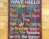 RUSTIC Repurposed Wood signs,Welcome to the PORCH, housewarming, home,  rustic, shabby chic,colorful,  designed with a whimsical saying