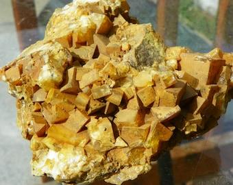 SALE*Large golden barite cluster, Montana, Self collected, Cabinet Sized mineral specimen