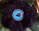 Carolina,Panthers,Football,NFL,Gift,Sports,Hair,Bags,Purses,Clothing,Crafts,Flower,Crocheted