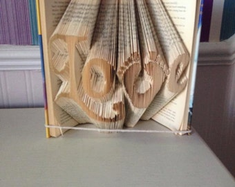 Book Folding Pattern Foot Prints in Love