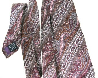 SALE! - John Comfort Silk Tie - John Comfort Tie - Vintage Silk Necktie - English Necktie - Downton Abbey Style - Mens Necktie - Mens Tie