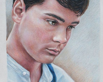 Gilbert Blythe/ Jonathan Crombie print of Colored Pencil drawing