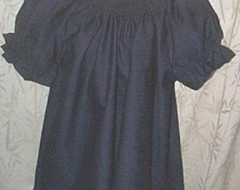 Renaissance chemise pirate civil war Blouse - Choice of colors  black, lt. blue, white, green, navy, pink