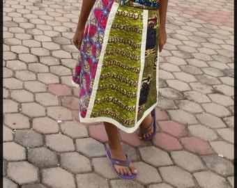 Fairtrade Premium Wax Panel Skirt **FREE SHIPPING**