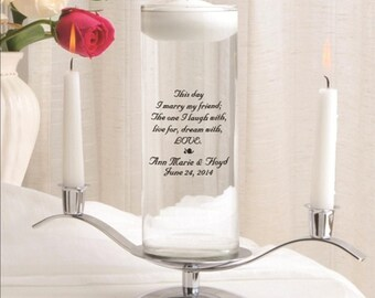 Floating Unity Candle Set , Wedding Vase , Unity Candle Set , Unity Candle Set , Custom Unity Candle , Wedding Candle ,  Many Designs