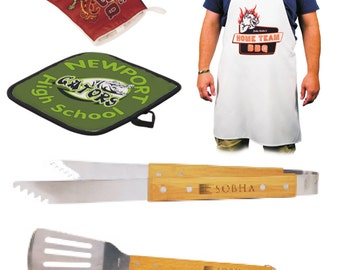 bbq gift set, personalized bbq grilling gift set, gifts for him, gifts for dad, grilling gift set