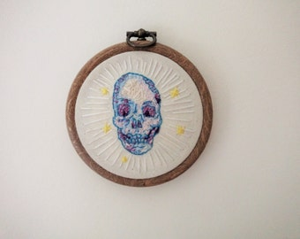 Skull Freehand Embroidery