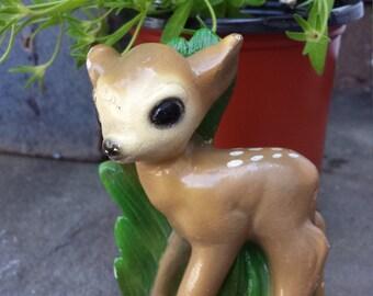 Vintage Chalkware Spotted Deer Figure