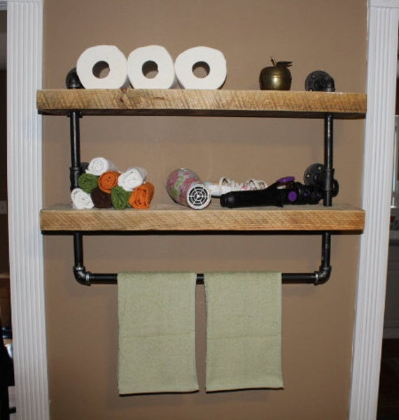 Pipe Shelves Kitchen: Items Similar To Industrial Pipe Shelf, Bathroom Shelves