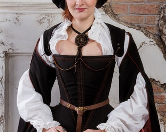 Cocoa brown historical renaissance costume Ready to ship SALE!